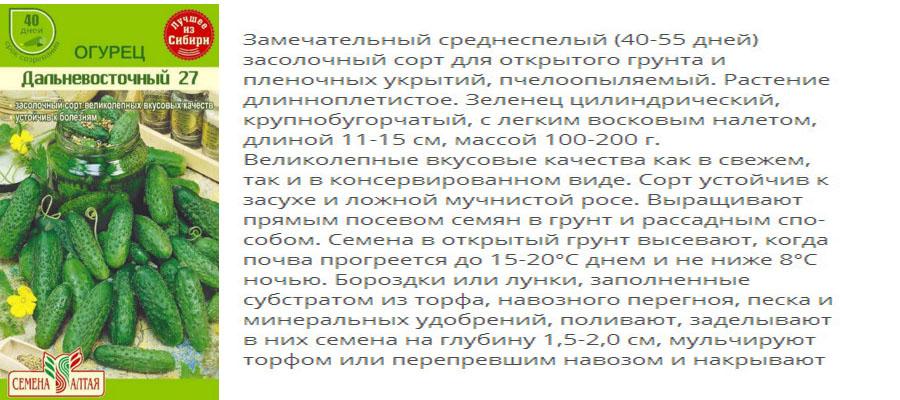 Огурцы для выращивания в сибири 585