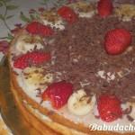 Торт из покупных коржей: рецепт с фото