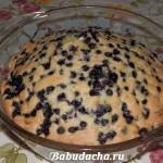 Быстрый пирог с черникой: рецепт с фото
