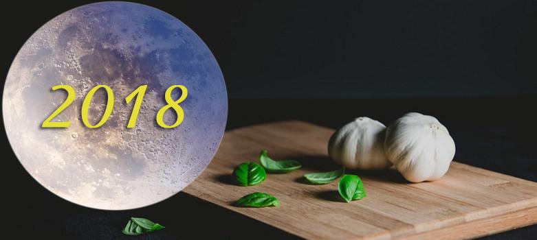 Даты посадки чеснока по Лунному календарю (2018)