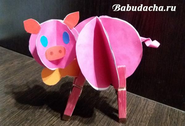 Отнесем поделку-свинку в детский сад