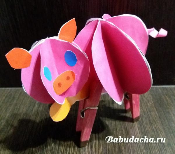 """Как сделать поделку """"Свинья"""" в детский сад: МК"""