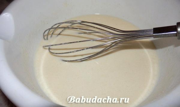 Этап 2: Приготовили сметанную заливку