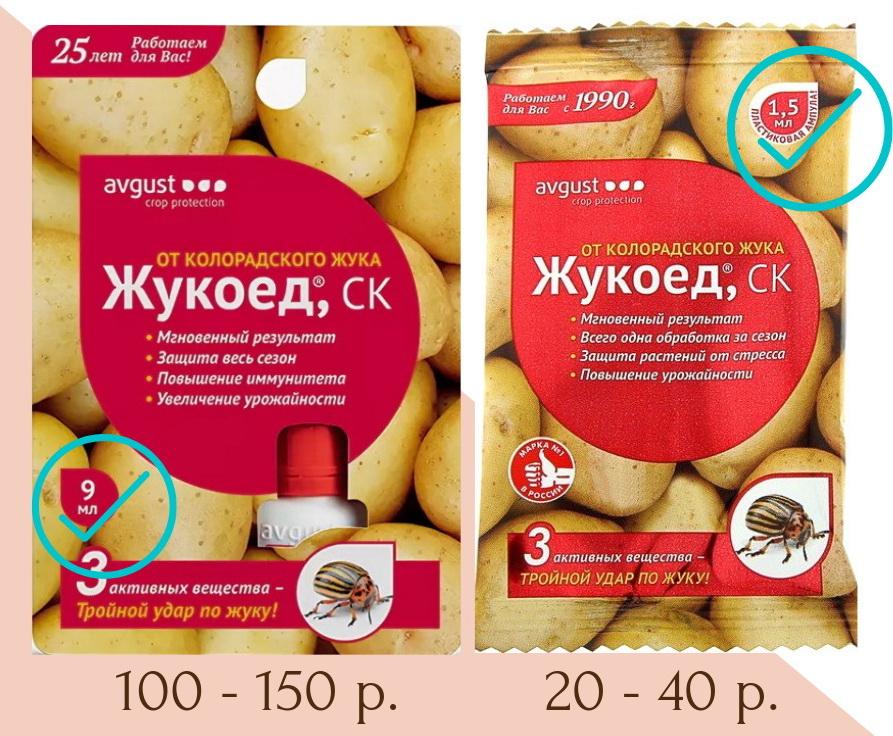Цена на Жукоед в магазинах зависит от размера ампулы