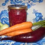 Борщевая заправка на зиму со свеклой и морковкой: Рецепт «Народный»