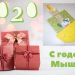 Мастерим открытку «Мышка с сыром» своими руками: В подарок на Новый 2020 год родным и близким